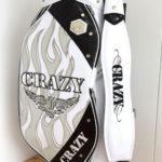 CRAZY クレイジー ドクロ キャディバッグ ホワイト 限定品 2015年モデルの買取価格