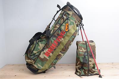 ブリーフィング×ビームスゴルフ×サンマウンテン メンズ キャディバック カモフラ柄 9.5型 46インチ対応