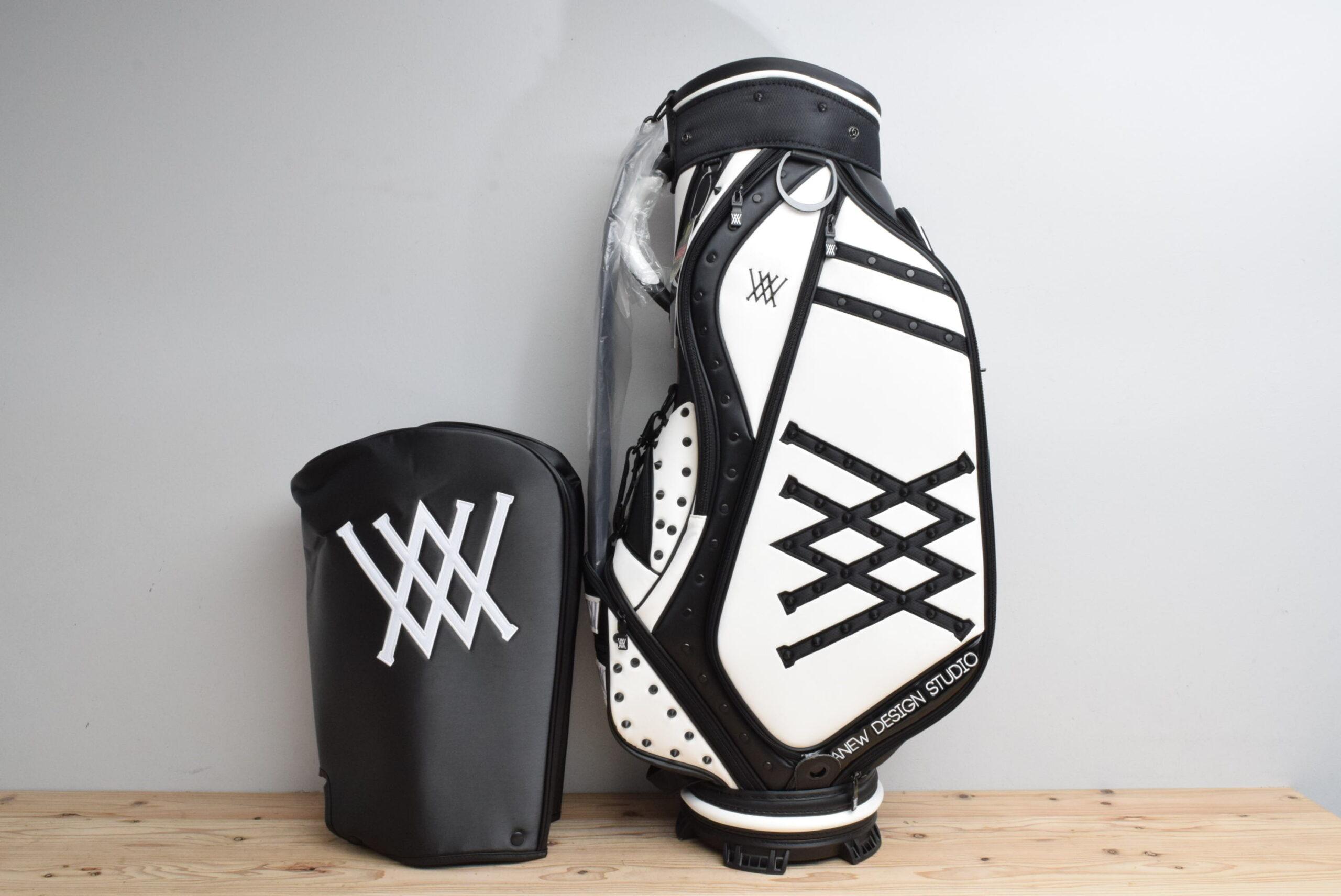 Azas Golf アザスゴルフ アニュー MID スタッフ キャディバッグ ホワイト/ブラック 2020年