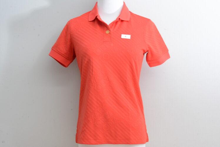 マークアンドロナ レディース ポロシャツ レッド Sサイズ