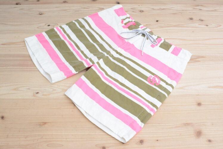 パーリーゲイツ メンズ ハーフパンツ ホワイト/ピンク/ブラウン サイズ4 Mサイズ