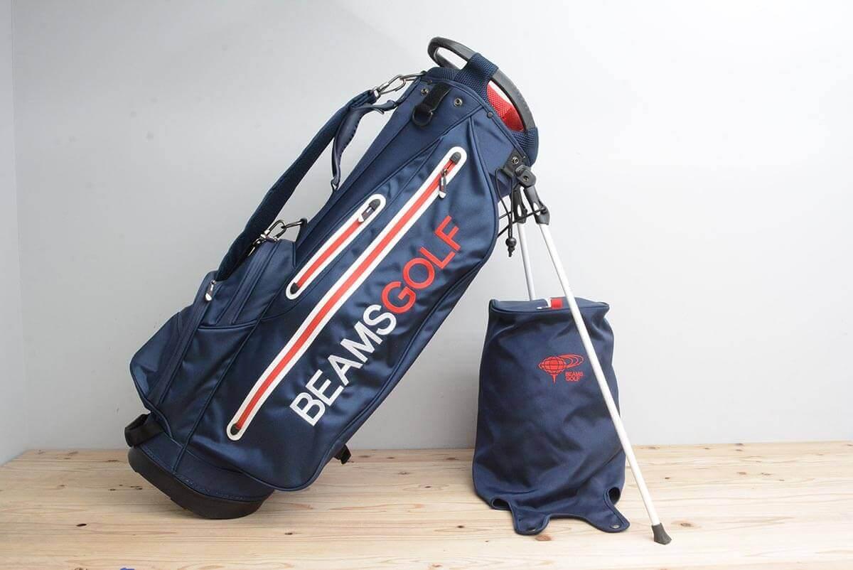 ビームスゴルフ スタンドキャディバック ネイビー 9型 46インチ対応 約2.95kg